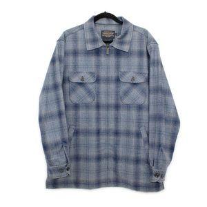 Pendleton Blue Plaid Wool Jacket